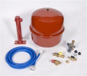 Installatiepakket voor de installatie van een cv-ketel